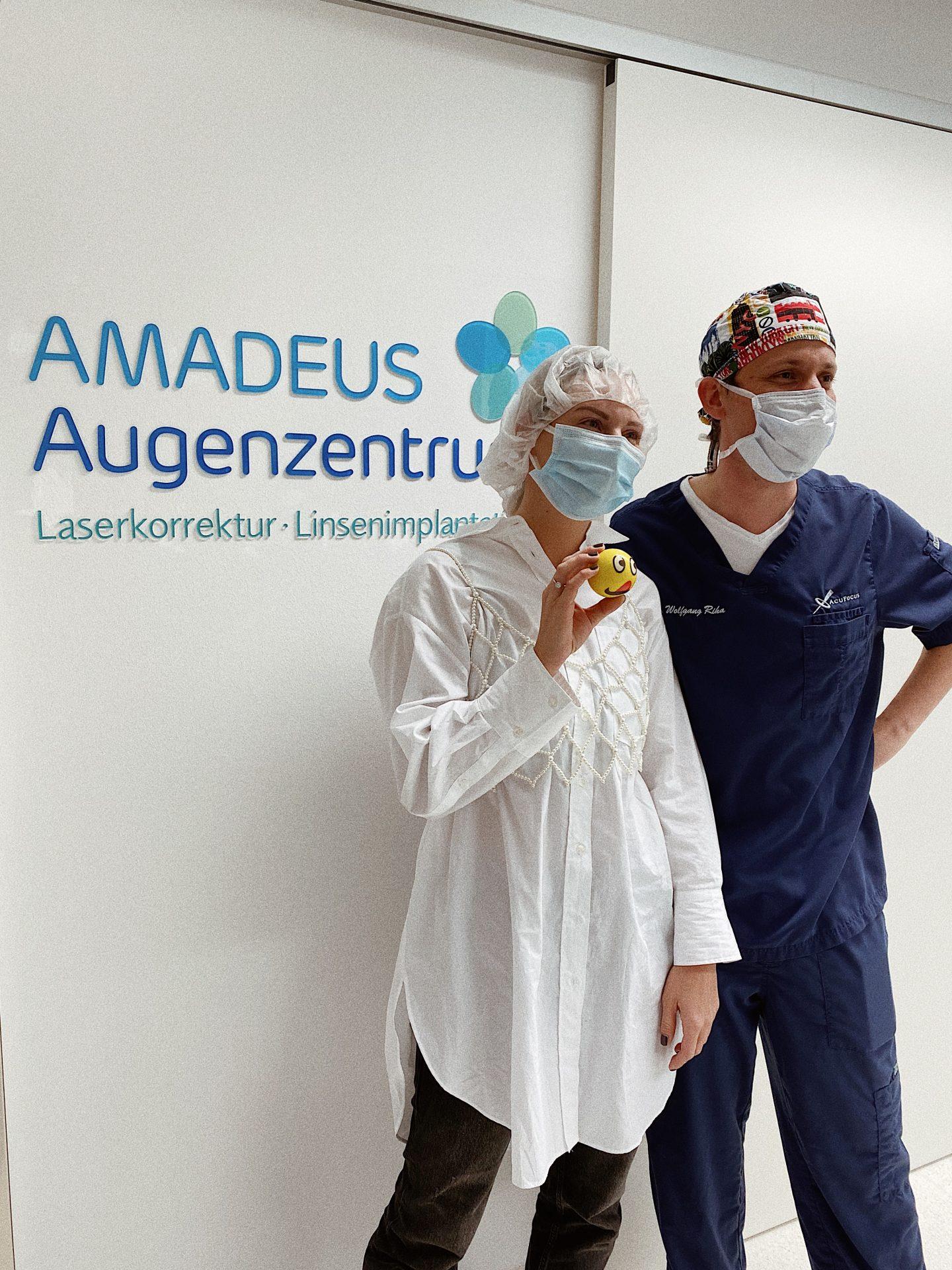 Amadeus Augenzentrum und Carina Köberl