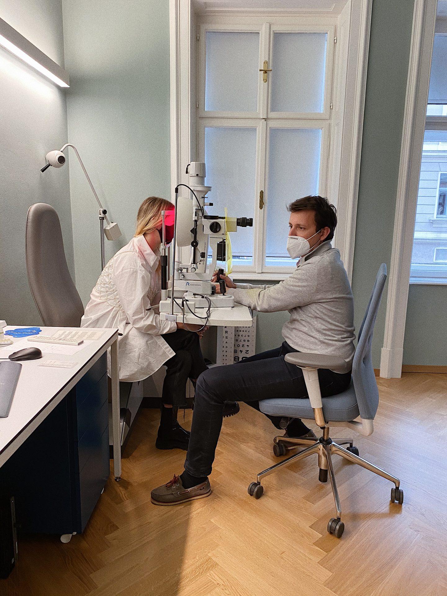 Augen Lasern Voruntersuchung Dr. Wolfgang Riha